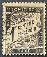 France YTYX010 - Timbres Taxe Type Duval 1 C Used Stamp 1882 - FRAYX010U - Fiscaux