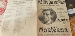 MONTEHUS /NE TIRE PAS SUR NOUS - Partitions Musicales Anciennes