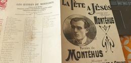 MONTEHUS /LA FETE A JESUS - Partitions Musicales Anciennes