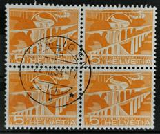 1949 Sitterbrücken Viererblock MiNr: 530 - Used Stamps
