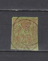 N° 42 TIMBRE COLONIES OBLITERE    DE 1877            Cote : 20 € - Sage