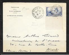LOT 2103010 - N° 311 SUR LETTRE DE ROUEN DU 27/04/36 POUR NIORT - 1 ER JOUR D'EMISSION - ENTETE DE LA PREFECTURE - 1921-1960: Modern Period