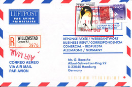 Netherlands Antilles Registered Air Mail Cover Sent To Germany Willemstad 11-5-2000 - Curacao, Netherlands Antilles, Aruba