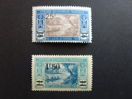 Cote D'ivoire N°73, 77 Neufs Avec Traces De Charnière - Neufs