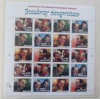 USA 1999 3186/91  BROADWAY SONGWRITERS Pane 20  Postfrisch ** MNH   #XL634 - Blocchi & Foglietti