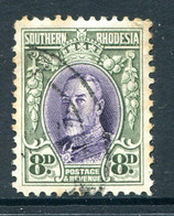 Southern Rhodesia 1931-1937 KGV - 8d Violet & Olive-green - P.12 - Used (SG 21) - Südrhodesien (...-1964)