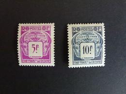 Océanie Taxe N°25, 26 ** Neufs Sans Charnières. Petits Pts De Rouille - Unused Stamps
