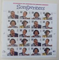 USA 1996  Scott #  3100-65 Songwriters  Pane 20  Postfrisch ** MNH   #XL636 - Blocchi & Foglietti