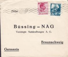Romania ERNST LAUE, BUDAPEST Gara De Nord 1939 Cover Brief BÜSSING-NAG Nutzkraftwagen BRAUNSCHWEIG Germany (2 Scans) - Briefe U. Dokumente