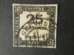 FRANCE Timbre Taxe 25c Oblitéré GRENOBLE 1871-1878 - 1859-1955 Used