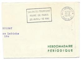 PARTIE D'ENVELOPPE PORT PAYE JOURNAUX 1970 PARIS 22 - 1961-....
