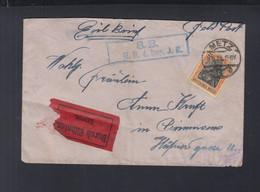 Dt. Reich Feldpost Expresbrief 1918 Merz Nach Pirmasens - Storia Postale