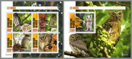 NIGER 2020 MNH Owls Eulen Hiboux M/S+S/S - OFFICIAL ISSUE - DHQ2035 - Owls