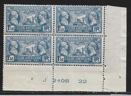 FRANCE N°245** LEGION AMERICAINE COIN DATE - ....-1929