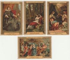 Lot De 4 CHROMOS   Chocolat LOUIT  Musée Du Louvre Vasari  Van Dijck Prud'hon Rubens - Louit