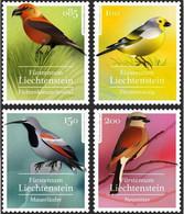 Liechtenstein 2021 Set 4 V MNH Native Songbirds Heimische Singvögel Oiseaux Chanteurs Indigènes - Other