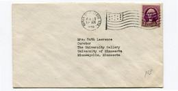 1938 Cover 3c From Berea College - Deptm. Of Fine Arts - Berea Kentucky - 15 Stars In Flag - - Briefe U. Dokumente