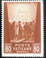 Poste Vaticane - Vaticaanstad - T2/4 - MH - 1942 - Michel 90 - Voor De Oorlogslachtoffers - Unused Stamps