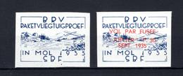 E10/11 ND MNH 1935 Nieuwe Proef Met Nieuw Vignet Mol - Commemorative Labels