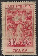 MACAU MACAO – 1945 Our Lady Of Mercy 20 Avos Scarce HONGKONG Print - Unused Stamps