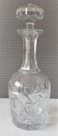 Belle Carafe à Liqueur En Cristal Gravé/taillé - Carafes