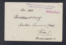 KuK Militärpflege Brief Rotes Kreuz Klagenfurt Nach Wien - Cartas
