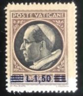 Poste Vaticane - Vaticaanstad - T2/4 - MH - 1945 - Michel 119 - Paus Pius XII Met Opdruk - Unused Stamps