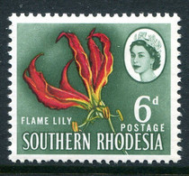 Southern Rhodesia 1964 QEII Pictorial Definitives - 6d Flame Lily MNH (SG 97) - Southern Rhodesia (...-1964)
