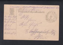 KuK Feldpost Friedland Mystek Rotes Kreuz - Cartas