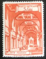 Poste Vaticane - Vaticaanstad - T2/4 - MH - 1949 - Michel 151A - Santa Prassede - Unused Stamps