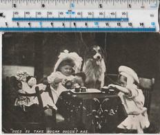 CHILDREN'S TEA PARTY - WITH DOLLS AND DOG - 1906 - Grupo De Niños Y Familias