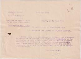 Sous Préfecture De Chalon - Note Relative Aux Travailleurs Partis Travailler En Allemagne - Délégation Familiale - 1943 - Documents Historiques