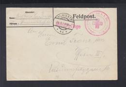 KuK Feldpost Rotes Kreuz Wien 1916 - Cartas