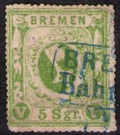 Bremen Bahnhof Auf 5 Sgr. Gelbgrün - Bremen Nr.9 B - Bremen