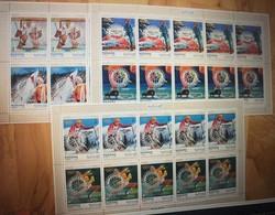Manama 1971 - Mi 618-23 MNH (**) - Sport - Olympic Games - Rotary (3 Sheets) (volt - Winter 1972: Sapporo