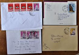 Rare Lot De 4 Lettres Covers  1 To Germany  Myanmar - Myanmar (Burma 1948-...)