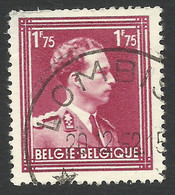 Belgium,  1.75 F. 1950, Sc # 288, Mi # 874, Used, Lombise - 1936-1957 Col Ouvert