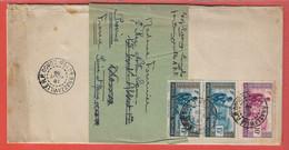 AEF LETTRE BANDE JOURNAL DE 1939 DE BRAZZAVILLE POUR PROVINS FRANCE - Covers & Documents