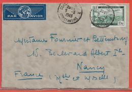 ALGERIE LETTRE DE 1949 DE CONSTANTINE POUR NANCY FRANCE - Lettres & Documents