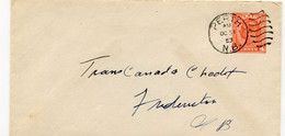 1953 Cover 4c From PERTH N.B. To Trans Canada Credit - 1903-1954 Reyes