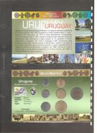 "Uruguay - Folder Bolaffi ""Monete Dal Mondo"" Emissione Valori UNC - Uruguay"