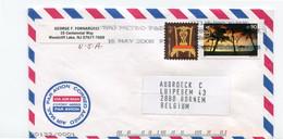 2008 Airmail Envelope From Woodcliff Lake To Belgium With Stamps 90+ 4c - Metro P&DC - Cartas