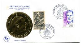 Thème Général De Gaulle - BT DUNKERQUE Mai 1990 - Anniversaire De La Libération - Y 602 - De Gaulle (Generaal)
