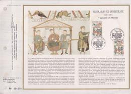 Guillaume Le Conquérant Encart Perforé 1er Jour Caen Et Rouen 5 9 87 N°2492 Et Ses Frères, Tapisserie De Bayeux - 1961-....