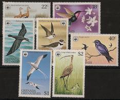 Grenadines - 1978 - N°Yv. 255 à 261 - Oiseaux / Birds / WWF - Neuf Luxe ** / MNH / Postfrisch - Non Classificati