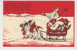 ENFANTS - ANGES - Jolie Carte Fantaisie SAINT NICOLAS - ST. NIKOLAUS Et Anges - C.H.W VIII/C 2505-32 - Santa Claus