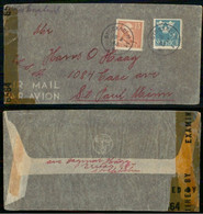 Sweden 1973 Cover From Stockholm To Saint Paul United States Label Censorship + 39 Stamps - Covers & Documents