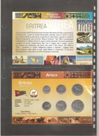 """Eritrea - Folder Bolaffi """"Monete Dal Mondo"""" Emissione Completa Valori UNC Ws5 - 1997 - Eritrea"""