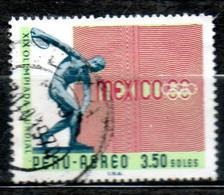 PEROU P Aérienne  J O De Mexico 1968 N° 228 - Pérou