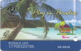 Margaritaville Casino Flamingo : Total Rewards - Casino Cards